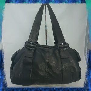 Cole Haan Drk Brn Leather Handbag Lazy Hobo